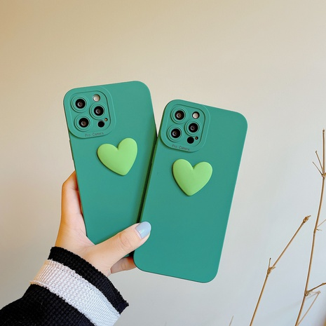 heart mobile phone case for iphone  Apple lens all-inclusive mobile phone case oft shell protective cover NHKI441323's discount tags