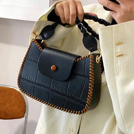 Personality DIY hand-woven bag stone grain messenger bag  NHGA441376's discount tags