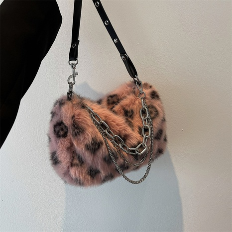 Autumn and winter new plush bag large-capacity Korean chain one-shoulder hairy bag NHGA441381's discount tags