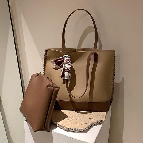 Retrolarge-capacity shopping bag fashion one-shoulder commuter bag woven tote bag NHGA441386's discount tags