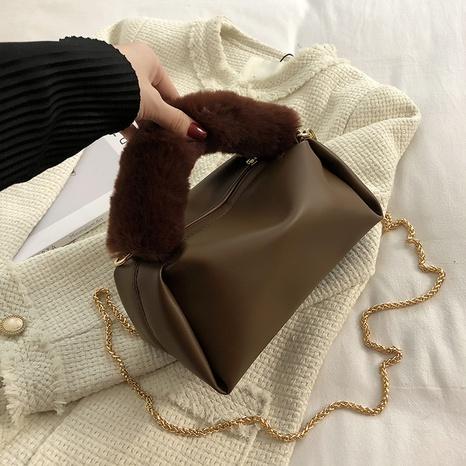 Furry handbag large capacity autumn 2021 new chain plush bag  NHGA441388's discount tags