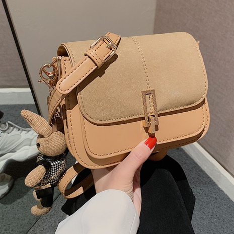 Retro autumn and winter one-shoulder messenger bag niche frosted armpit bag NHGA441390's discount tags