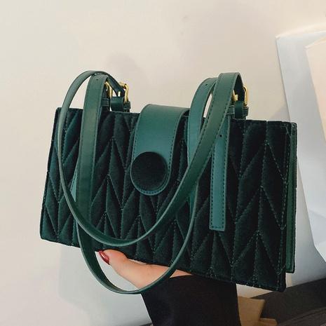 fashion velvet shoulder casual texture solid color hand bag diamond bag NHGA441394's discount tags