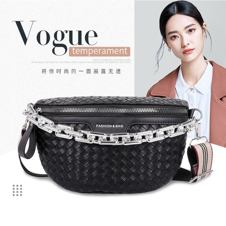 new style acrylic thick chain ladies waist bag new woven bag  NHGA441395's discount tags