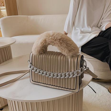 new plush handbag chain messenger bag popular fold single shoulder lady bag NHGA441400's discount tags