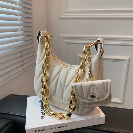 new fold underarm bag handbag texture acrylic thick chain casual shoulder bag NHGA441401's discount tags