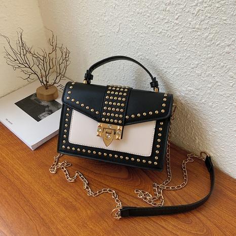 simple clashing color rivet bag 2021 Korean version of one-shoulder messenger square bag  NHGA441410's discount tags