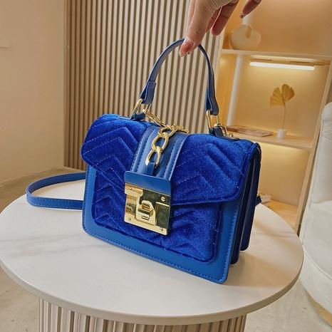 fashion chain corduroy check small square bag cross-border shoulder messenger bag NHGA441411's discount tags
