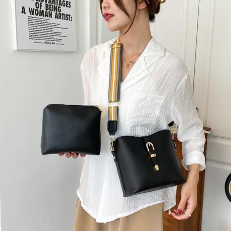 new fashion wide shoulder strap high capacity messenger bag bucket bag NHGA441415's discount tags