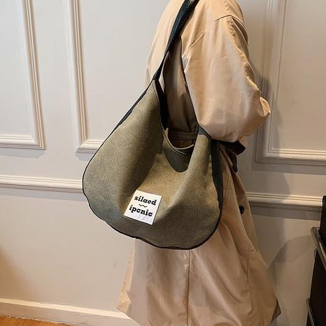 New Female Retro Shoulder Big Bag Fashion Canvas Bag Student Bag NHGA441423's discount tags