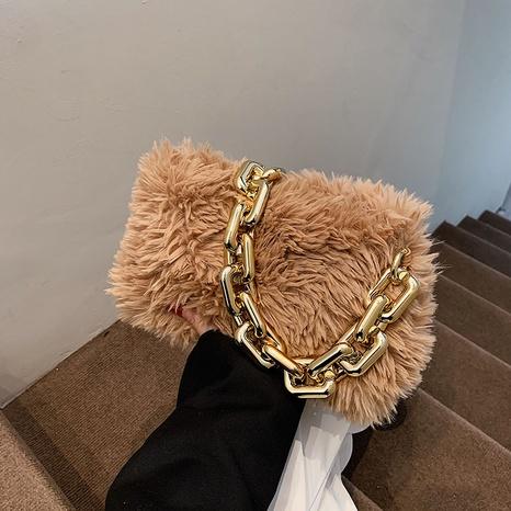 autumn new style acrylic thick chain fur bag shoulder portable armpit bag lady bag NHGA441424's discount tags