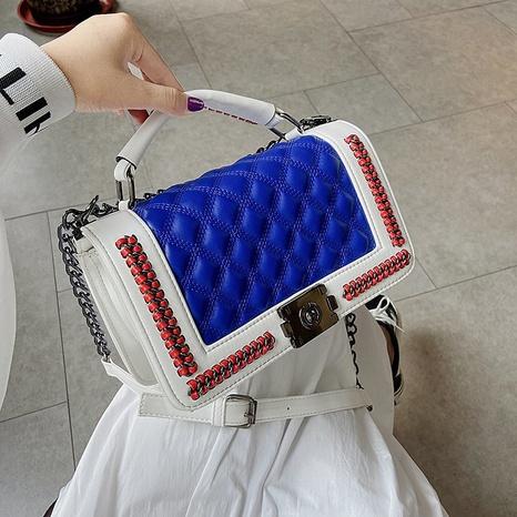 new simple shoulder bag European and American fashion rhombus chain messenger small square bag NHGA441426's discount tags