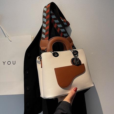 new fashion handbags simple ladies temperament one-shoulder portable messenger bag wide shoulder strap bag NHGA441429's discount tags