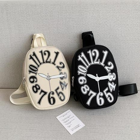 fashion personality clock shape large-capacity one-shoulder messenger bag  NHGA441431's discount tags