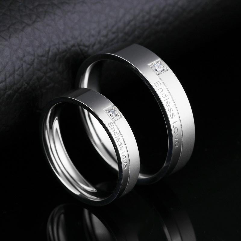 Korean simple titanium steel ring  NHOP313430