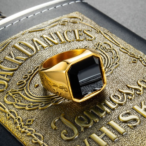 Retro einfache trendige Herren Edelstahl Ring NHOP313394's discount tags