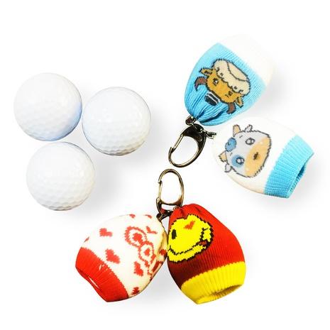 Korean woven ox pompom bag golf bag golf waist ornaments  NHBN313595's discount tags