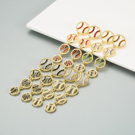 Boucles d'oreilles diamant simples coréennes NHLN313607's discount tags