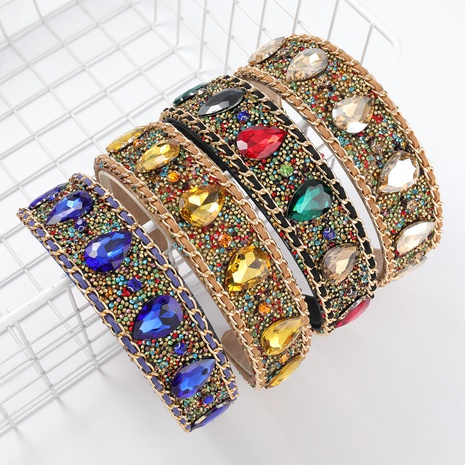 nouveau bandeau de diamant en alliage de flanelle NHJE313613's discount tags