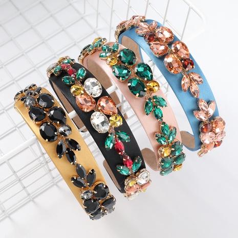nouveau bandeau de fleur de diamant d'alliage de flanelle NHJE313616's discount tags