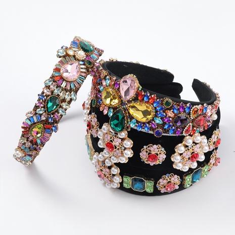nouveau bandeau exagéré de fleur de perle d'alliage NHJE313618's discount tags