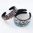 new flannel fashion diamond flower headband  NHJE313623