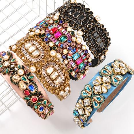 nouveau bandeau de perles incrusté de diamants NHJE313626's discount tags