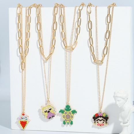 collier pendentif animal mignon de bande dessinée NHJQ313652's discount tags