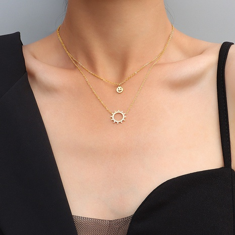 collier double face soleil souriant NHOK313665's discount tags