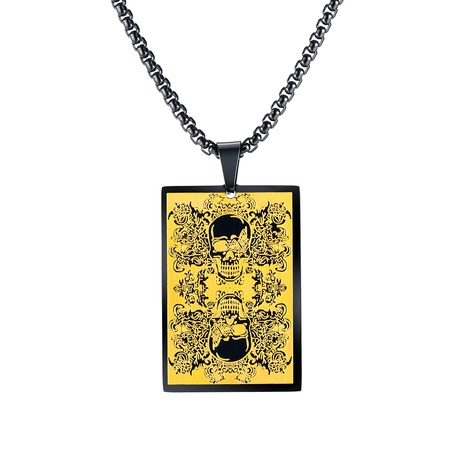 collier en acier titane crâne rétro en gros NHOP313687's discount tags