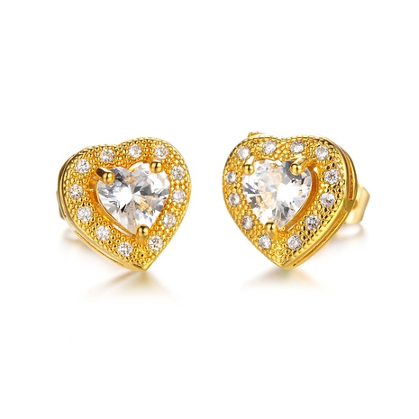 new copper gold-plated love earrings NHOP313705's discount tags