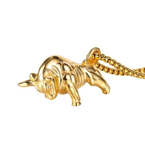Collier en acier titane pour homme Zodiac Bull NHOP313716's discount tags