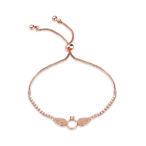 simple copper plated rose gold bracelet  NHOP313718's discount tags