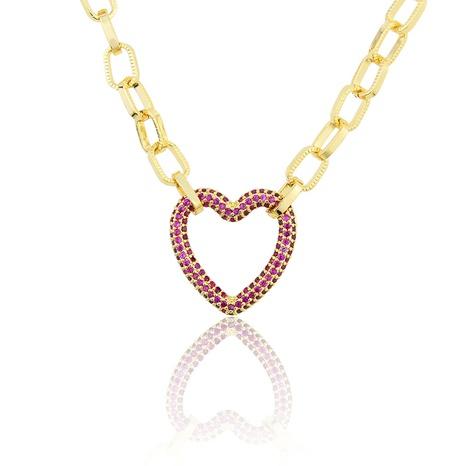 neue vergoldete herzförmige Halskette mit Volldiamant NHBP313719's discount tags