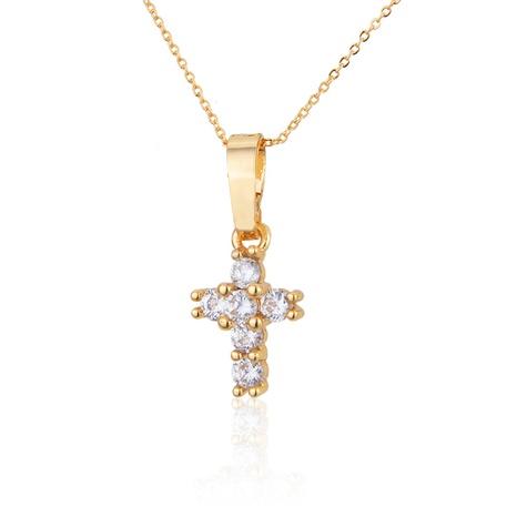 collier petite croix en zirconium blanc NHBP313729's discount tags