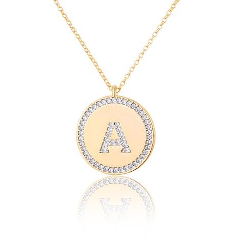 weiße Zirkonium 26 Buchstaben Halskette NHBP313732's discount tags