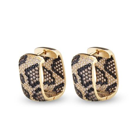 boucles d'oreilles zircon à imprimé léopard NHBP313754's discount tags