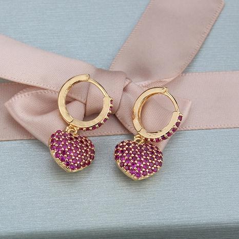 boucles d'oreilles zircon simples en forme de cœur NHBP313764's discount tags