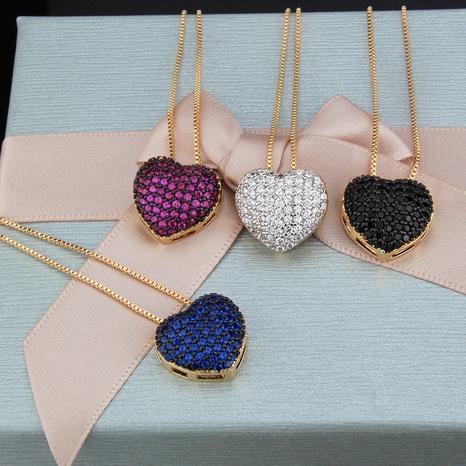 collier de coeur simple nouveau pendentif zircon NHBP313767's discount tags
