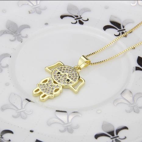 nouveau collier fille incrusté de zirconium NHBP313768's discount tags