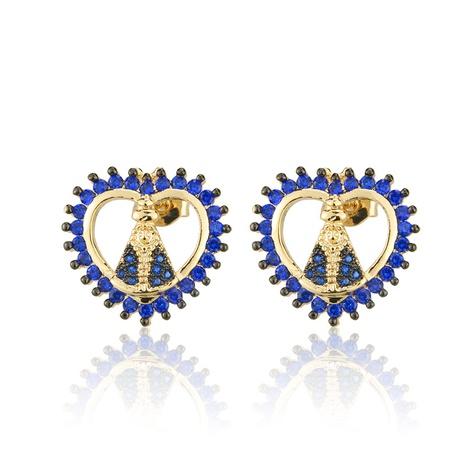 boucles d'oreilles simples en zircon plaqué or NHBP313776's discount tags