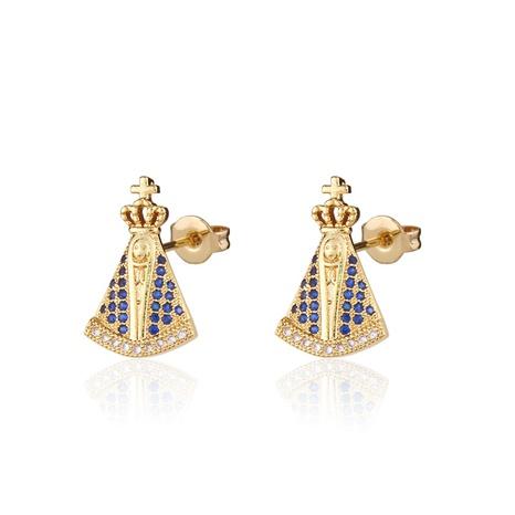 boucles d'oreilles catholiques simples en zircon NHBP313777's discount tags