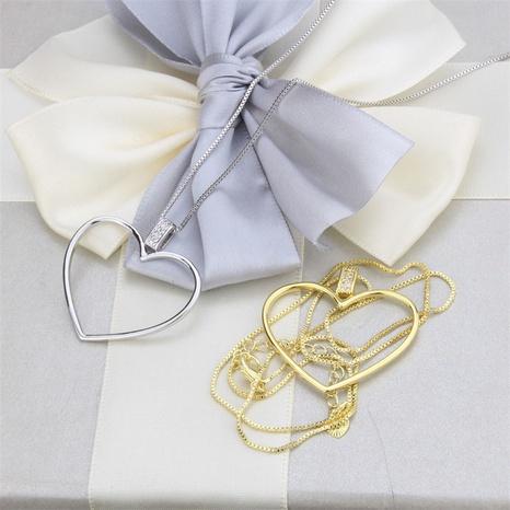 nouveau collier pendentif coeur diamant simple NHBP313785's discount tags