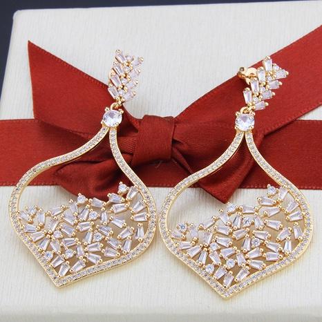 boucles d'oreilles simples en zircon plaqué or NHBP313791's discount tags