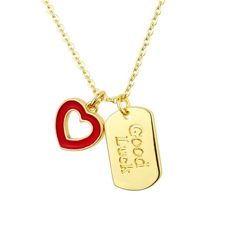 quadratische Glückstag-Herzkette NHBP313794's discount tags