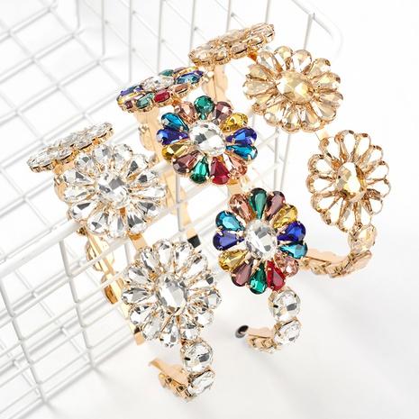 fashion alloy diamond multi-layer flower full diamond headband NHJE313810's discount tags