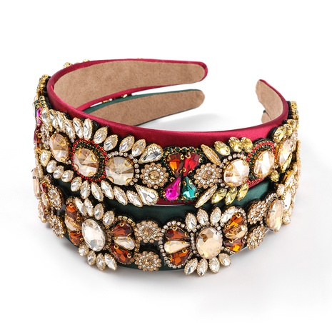 fashion flannel alloy diamond flower headband  NHJE313813's discount tags
