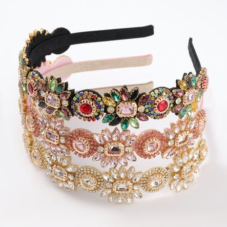 Nouveau bandeau de fleur de diamant d'alliage de mode NHJE313814's discount tags