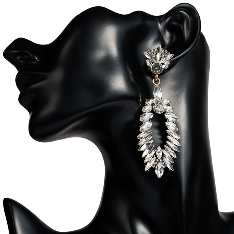 new alloy diamond pearl flower earrings  NHJE313818's discount tags