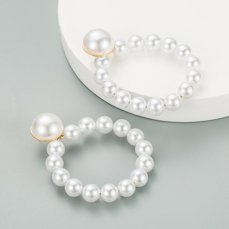 simple imitation pearl earrings NHLN315406's discount tags